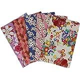 aufodara 5 pièces 50 x 50 cm Tissus Coton Style Japonais Bronzant Imprime Patchwork Couture Quilting Scrapbooking Loisir Créa
