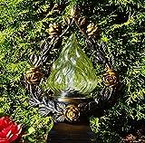 ♥ GRABLAMPE ROSE BRONZE MIT LED GRABLICHT 30,0cm GRABSCHMUCK GRABLATERNE GRABLEUCHTE GRABKERZE LAMPE LATERNE LICHT