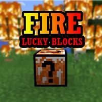 Fire Lucky Blocks Mod
