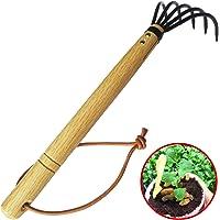 Hand Rake,Portable Digging Tool Mini Steel Rake For Garden Transplanting Tool