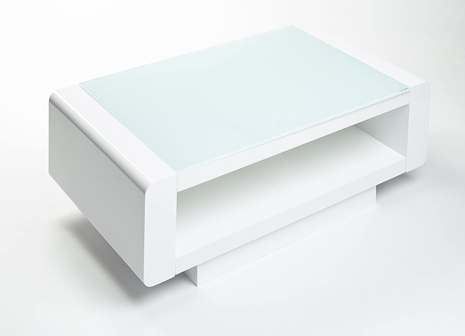 Miami modern rectangle contemporary designer coffee table white miami modern rectangle contemporary designer coffee table white amazon kitchen home geotapseo Images