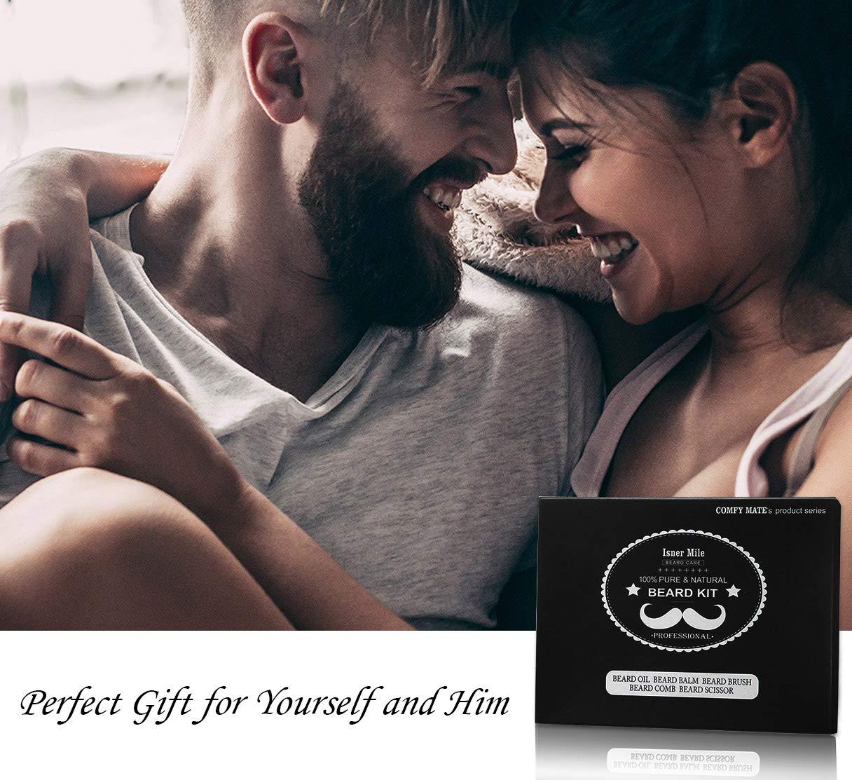 Kit Barba Cuidado Para Hombres, Set Herramientas de Aseo y Recorte Con Champú Barba, Aceite Crecimiento Barba, Bálsamo…