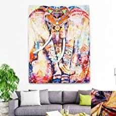 Indian Elephant Tapestry Wall Hanging Decor Home Hippie Bohemian Mandala Tapestries for Tablecloth Yoga Mat Rugs Meditation Beach Towel Picnic Blanket