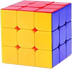 Asian Hoby Crafts High Stability Stickerless 3X3X3 Speed Cube (Multicolour)