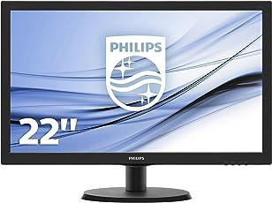 Philips 223V5LSB/00 54,6 cm (21,5 Zoll) Monitor (VGA, DVI, 1920 x 1080, 60 Hz) schwarz