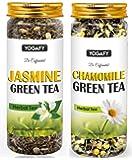 YOGAFY- Combo Green Tea 100 Cups | Jasmine Green Tea - 100g & Chamomile Green Tea - 100g |200g