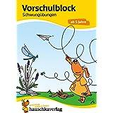 Ubungsmaterial fur kindergarten und vorschule - t626 - vorschulblock - schwungubungen ab 5 jahre