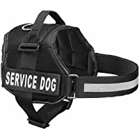 PetsUp Service Dog Harness, Chest Body Belt for Dogs (65-88CM Girth), Black