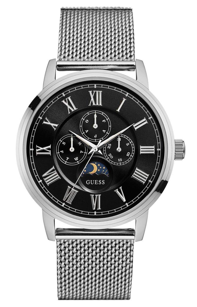 Guess Reloj Multiesfera para Hombre de Cuarzo con Correa en Acero Inoxidable W0871G1