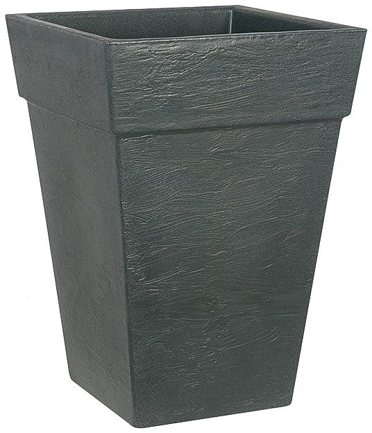 Pflanzkübel BOLOGNA quadratisch aus Kunststoff, Farbe:anthrazit ...