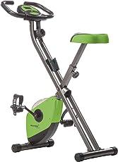 skandika Foldaway X-1000 Fitnessbike Heimtrainer x-bike F-Bike klappbar mit Handpuls-Sensoren, 8-stufiger Magnetwiderstand, LCD Display