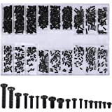 500 Stks Schroeven Universele Zwarte Schroeven Kits M1.2 M1.4 M2 Verzonken & Ronde Schroeven Elektronische Reparatie Schroeve