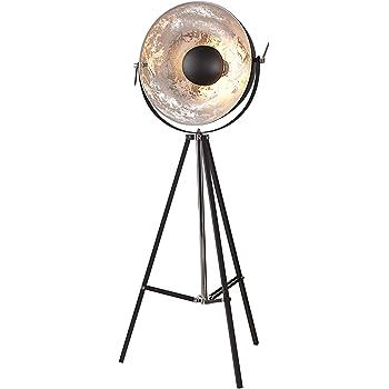 moderne design stehlampe big studio schwarz silber lampe blattsilber optik 160 cm. Black Bedroom Furniture Sets. Home Design Ideas