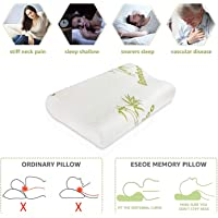 Proliva Pillows for Sleeping Contour Memory Foam Pillow Support for Pain Relief Orthopedic Pillow Neck and Spine Support (Organic Bamboo Fiber Cover)