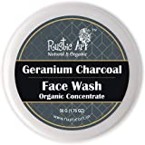 Rustic Art Geranium Charcoal Face Wash Concentrate For Oily to Normal Skin, 50 Gm