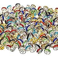 200 Piezas de Abalorios Espaciadores de Colores Mezclados, 10 Colores para Fabricación de Bisutería