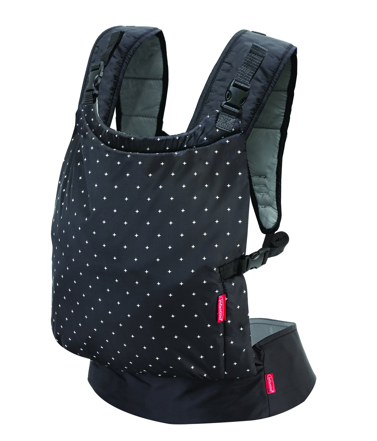 Infantino Zip Ergonomic Baby Travel Carrier, Black Infantino Fully safety tested Travel carrier that unfolds to for safe secure baby wearing Up to 18 kg 1