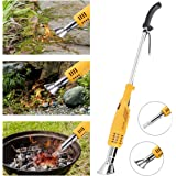 NASUM Weed Burner Electric Weed Killer Thermal Weeding Stick - 2000W 230V Up to 650°C, Environmentally Friendly, for Garden, Patio, Driveway (Yellow)