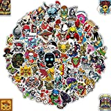 Q-Window Lot Autocollant [100-PCS], Pop Monstre Crâne Skull Stickers Vinyle Autocollants pour Voiture Moto Ps4 Vélo Iphone Scrapbooking Ordinateur Xbox One Valise Macbook Ordinateur Noeud Bumper Bomb