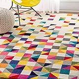 UN AMOUR DE TAPIS 80x150 Tapis Salon Moderne Design Géométrique - Petit Tapis Salon Poils Ras - Tapis Chambre Turquoise - Tap