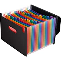 Magicfly Trieur à Soufflets Classeur Rangement 24 Compartiments avec Couvercle A4 Chemise Papier Administratif…