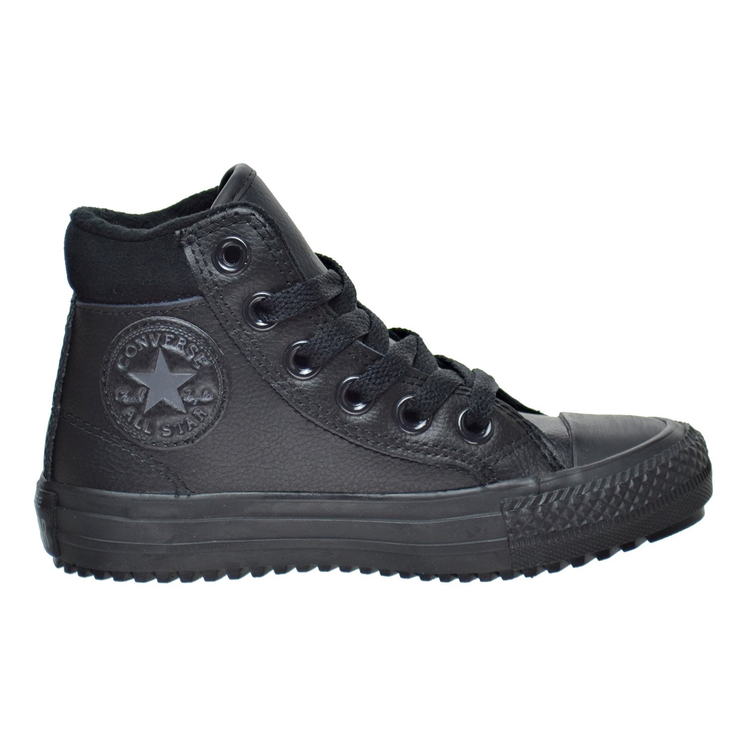 a34d8763630b7f Converse Chuck Taylor All Star Weatherized Junior Black Leather Ankle  Boots  Amazon.co.uk  Shoes   Bags