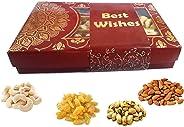 Maalpani Diwali Dryfruit Gift Hamper - Diwali Card - 7 x 5 - Diwali Dry Fruit Gift / Bhai dooj Gift / Corporate Festival Gift