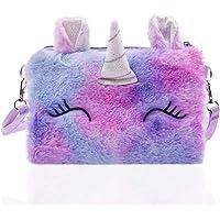 Kinder Umhängetasche Mädchen Einhorn Geschenk für Mädchen Schultertasche,Mädchen Kindertasche,Plüsch Cartoon Tasche…