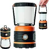 OUTDOOR Camping lampa Dunlop LED   1000 lumen   4 belysningslägen   dimbar   Stötsäker, reptålig + vattenstänk skyddad IP44  