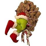 lefeindgdi Guirnalda de Navidad con diseño de Grinch Stole