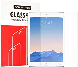 Robustrion Anti-Scratch & Smudge Proof Premium Tempered Glass Screen Protector New iPad 9.7 inch 2018 6th Generation Model A1893 A1954