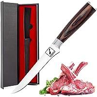 Couteau à désosser imarku, couteau à filet de 6 pouces, manche incurvé en acier inoxydable à haute teneur en carbone et…