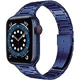 Miimall Correa de Reloj Compatible con Apple Watch Serie 6/SE/5/4/3/2/1 40mm 38mm, Metal de Acero Inoxidable Correa de Repues