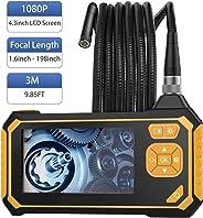 MoKo Industrial Endoscope - Borescope Inspection Camera, 3.0M 1080P HD Digital Semi-Rigid Snake Waterproof Video Recording Ha