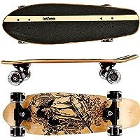 FunTomia Skateboard 66cm - 7ply Strati di Acero Canadese - con o Senza Ruote a LED