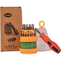 HUSB ® Precision 31 in 1 Repairing Interchangeable Precise Screwdriver Tool Set Kit with Magnetic Holder for Home and…