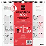 Finocam - Calendario Neutro de pared 2021 Escribir Español