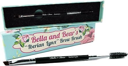 """Augenbrauenpinsel von Bella & Bear. Der """"Iberian Lynx""""-Spoolie- und Brauenpinsel ist das perfekte abgewinkelte 2-in-1 Brauenpinsel-Duo für Ihre Augenbrauen und Wimpern."""