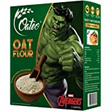 Oateo Oats Flour, 500 Grams - 100% Oats Flour ,Organic ,Whole Grain Atta - Hulk edition