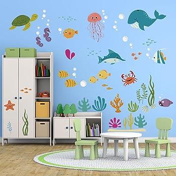 I-love-Wandtattoo WAS-10003 Wall stickers Kids Underwaterworld Sticker Wall Decal Boy Girl