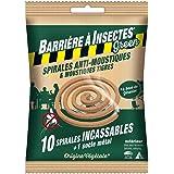 BARRIERE A INSECTES GREEN Spirales Anti-Moustiques & Moustiques Tigres, à Base de Géraniol - Sachet de 10 spirales, BARBIOSPI