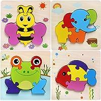 Afufu Jouet Bébé - Puzzles en Bois, Jouets Montessori Enfant 1 2 3 4 Ans, Bebes Animaux Jeux Educatif Apprentissage…