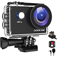 GOOKAM 4K Action Cam 20MP WiFi Telecomando Fotocamera Subacquea Impermeabile 40M Sott'Acqua Sports Camera Schermo 2…