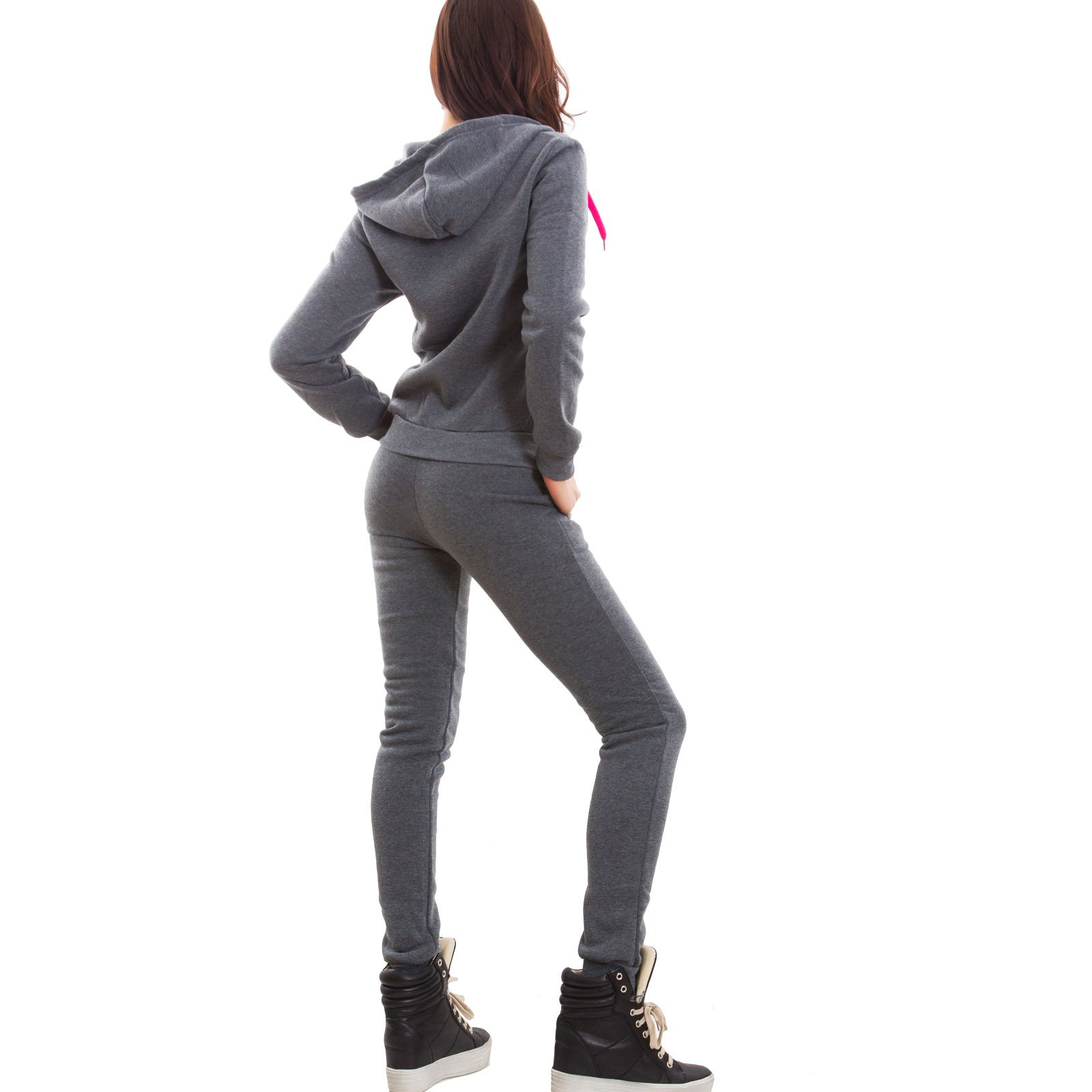 scarpe sportive ottimi prezzi migliore a buon mercato Toocool - Tuta Donna Completo Pantaloni Fitness Cappuccio Scritte Sport Zip  Nuova J906