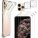 IVSO Verre Trempé pour iPhone 11 Pro(3 pièces)+Coque pour iPhone 11 Pro, Protection écran pour iPhone 11 Pro, Caméra…