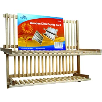 Solid Wooden Kitchen Dish Plate Drying Rack Ideal For