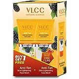 VLCC Anti Tan Skin Lightening Face Wash (2x150g), 2 Pieces