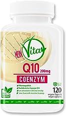 MeinVita Coenzym Q10 - 200 mg - extra hochdosiert - 120 Kapseln - 100% Vegan - Bioaktiv, 4 Monatsvorrat, Premium Qualität , hergestellt in Deutschland , Well-Aging