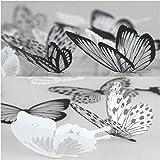 36 piezas 3D Etiqueta de la pared mariposa Muebles de bricolaje decoracion Etiqueta engomada de la mariposa del diseño del ar