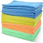 Masthome 4-Colors Clean Rags 20 Pack 16 X 12.2 Inch Highly Absorbent Cleaning Cloths No Fabric Soft Microfiber Kitchen Car Cl